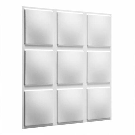 WallArt 24 pcs 3D Wall Panels GA-WA07 Cubes - White