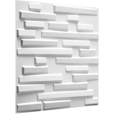 WallArt 24 pcs 3D Wall Panels GA-WA13 Ventura - White