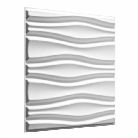 WallArt 24 pcs 3D Wall Panels GA-WA14 Flows - White