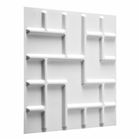 WallArt 24 pcs 3D Wall Panels GA-WA16 Tetris - White