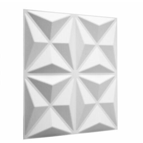 WallArt 24 pcs 3D Wall Panels GA-WA17 Cullinans - White