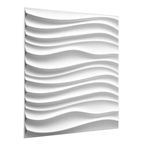 WallArt 24 pcs 3D Wall Panels GA-WA22 Maxwell - White