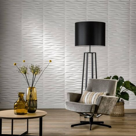 WallArt 24 pcs 3D Wall Panels GA-WA24 Valeria - White