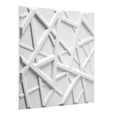 WallArt 24 pcs 3D Wall Panels GA-WA26 Olivia - White