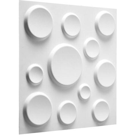 WallArt 3D Wall Panels Craters 12 pcs GA-WA11 - White