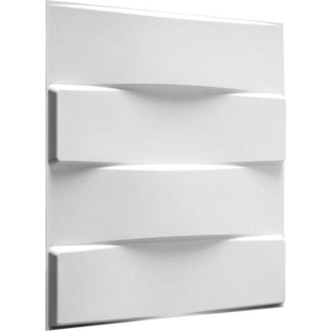 WallArt 3D Wall Panels Vaults 12 pcs GA-WA05 - White
