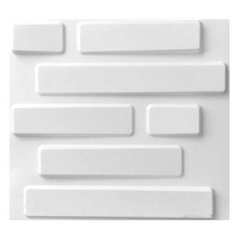 WallArt Paneles de pared 3D Bricks 12 piezas GA-WA02 - Blanco