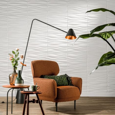 WallArt Paneles de pared 3D GA-WA04 24 unidades ondas