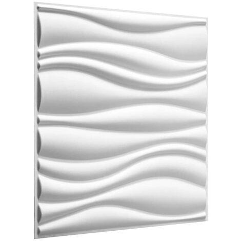 WallArt Paneles de pared 3D GA-WA04 24 unidades ondas - Blanco