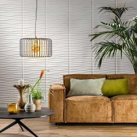 WallArt Paneles de pared 3D ondulados 12 piezas GA-WA14