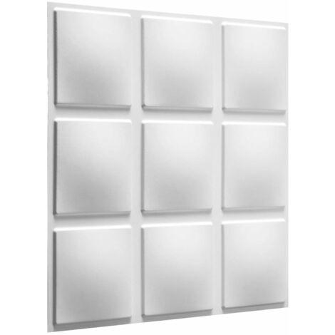WallArt Paneles murales 3D Cubes 12 piezas GA-WA07 - Blanco