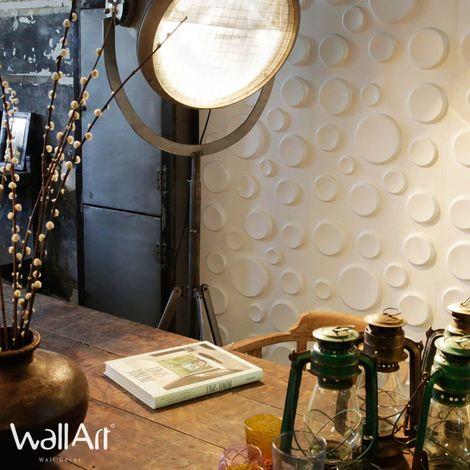 WallArt Panneaux muraux 3D Cratères 12 pcs GA-WA11