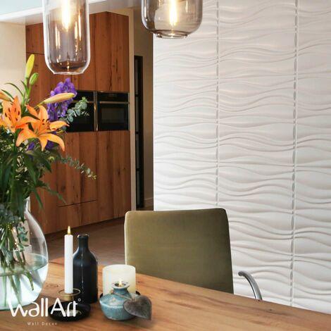 WallArt Panneaux muraux 3D Vagues 12 pcs GA-WA04