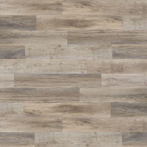 WallArt Wood Look Planks Barnwood Oak White Wash - Brown