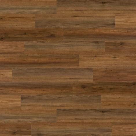 WallArt Wood Look Planks Natural Oak Saddle Brown - Brown