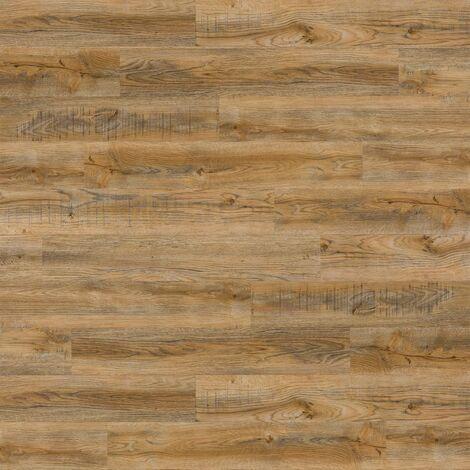 WallArt Wood Look Planks Reclaimed Oak Vintage Brown - Brown