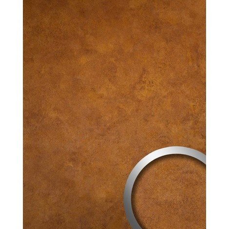 Wallcovering metal look Wall panel self-adhesive WallFace 18589 DECO Copper Age Interior deco wallcovering copper red | 2.60 sqm