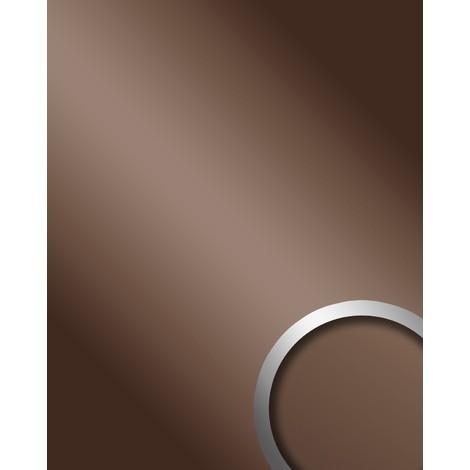 WallFace 10150 DECO BROWN Wall panel self-adhesive Mirror design glossy look Wallcovering panel brown | 2.60 sqm