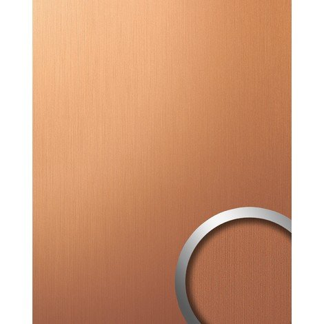 WallFace 12432 DECO Wall panel wallcovering wall decor plate metallized smooth surface copper brown brushed | 2.60 sqm