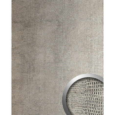 WallFace 12893 LEGUAN Wall panel leather imitation wall cover decor self-adhesive interior plate silver-grey | 2.60 sqm