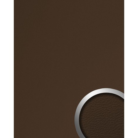 WallFace 12978 LEATHER Wall panel self-adhesive Leather design structure Luxury wallpaper self-adhesive brown   2.60 sqm