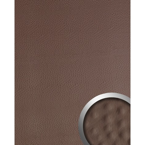 WallFace 13403 OSTRICH Wall panel leather 3D interior decoration luxury wallcovering self-adhesive brown | 2.60 sqm