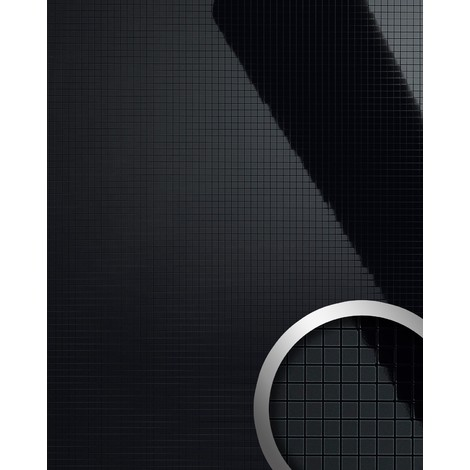 WallFace 13475 M-STYLE Wall panel interior plate room shop eyecatch decor self-adhesive sexy glossy black 0.96 sqm