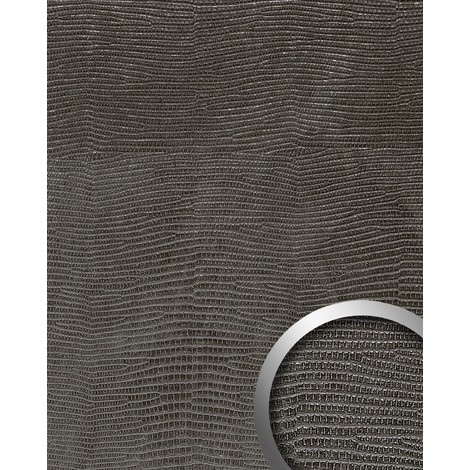 WallFace 14797 LEGUAN Wall panel leather imitation wall cover decoration self-adhesive interior plate black | 2.60 sqm