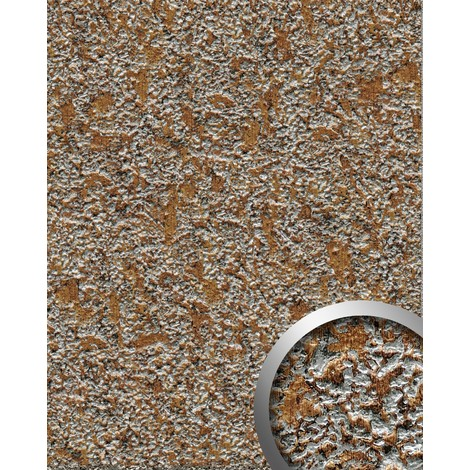 WallFace 14805 LAVA Wall panel textured stone decor interior plate wallcovering self-adhesive brown grey | 2.60 sqm