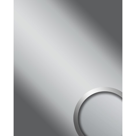 WallFace 15421 DECO SILVER Wall panel self-adhesive Mirror design glossy look resistant to abrasion silver | 2.60 sqm