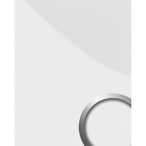 WallFace 15422 DECO MAGIC Wall panel self-adhesive design Panel resistant to abrasion slightly glossy white | 2.60 sqm