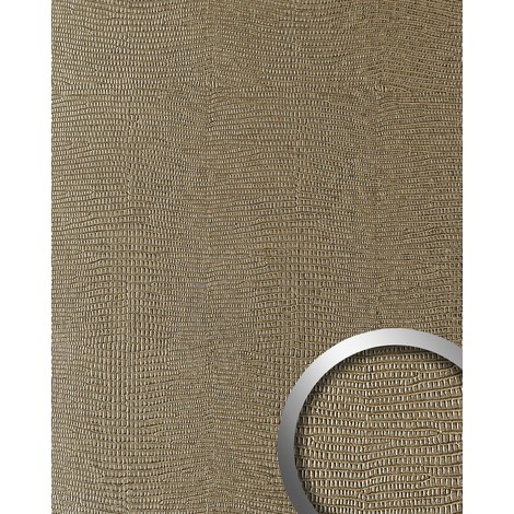 WallFace 16452 LEGUAN Wall panel leather imitation wall cover decor self-adhesive interior plate light brown | 2.60 sqm