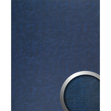 WallFace 16986 LEGUAN Wall panel self-adhesive Leather Iguana skin decor Luxury Wallcovering blue | 2.60 sqm