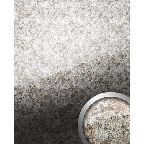WallFace 17199 VINTAGE Wall panel self-adhesive Glass look Luxury Panel resistant to abrasion silver grey | 2.60 sqm