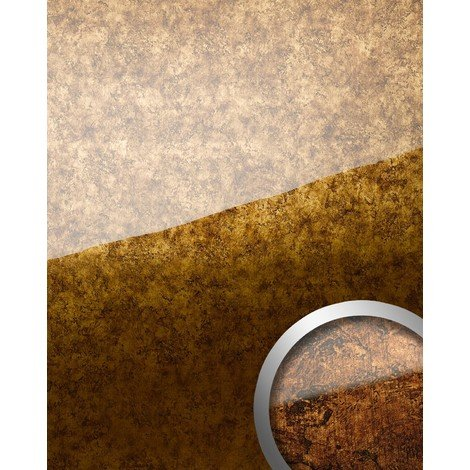 WallFace 17200 VINTAGE Wall panel self-adhesive Glass look Luxury Panel resistant to abrasion copper brown | 2.60 sqm