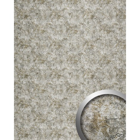 WallFace 17269 VINTAGE Wall panel self-adhesive Leather decor Vintage look Luxury wallcovering silver grey | 2.60 sqm