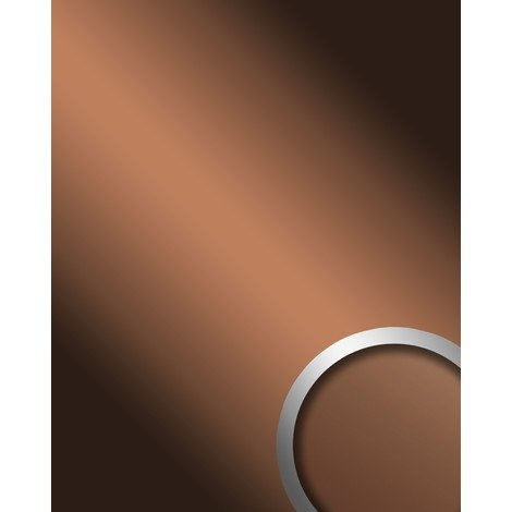WallFace 17273 DECO COPPER Wall panel self-adhesive Mirror design glossy look Wallcovering panel brown | 2.60 sqm