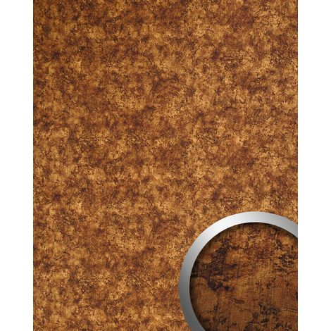 WallFace 17277 DECO VINTAGE Wall panel self-adhesive Metal-rust design Luxury wallcovering copper brown | 2.60 sqm