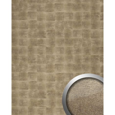 WallFace 17846 DECO LUXURY Wall panel self-adhesive Metal design Luxury wallcovering self-adhesive bronze | 2.60 sqm