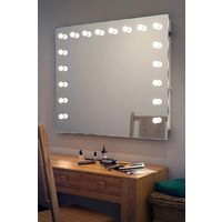Wallmount Hollywood Makeup Audio Mirror with Daylight LED k93CWaud