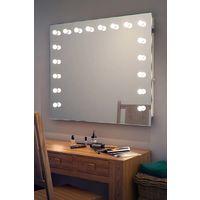 Wallmount Hollywood Makeup Audio Mirror with Warm White LED k93WWaud
