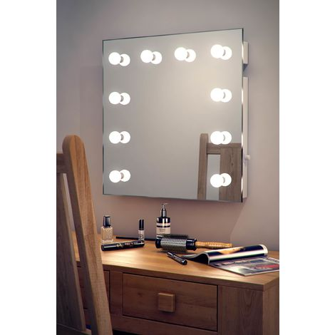 Wallmount Hollywood Makeup Mirror with Daylight Dimmable LED k89CW