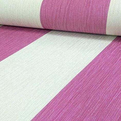 Wallpaper Debona- Luxury Glittered Elegant Crystal Stripe - Pink & Ivory - 9014