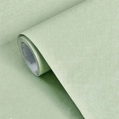 Wallpaper Thickness Self Adhesive Monochrome Embissue In The European Style Waterproof Living Room Living Room Dormitory Wall Wall Paper Sticker Green Stickers 3 Meters