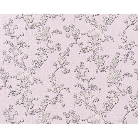 Wallpaper wall 3D XXL non-woven EDEM 919-39 luxury textured flower floral syringa rose violet grey 10.65 sqm