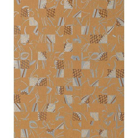 Wallpaper wall abstract collage EDEM 745-26 mystic art style embossed quality ochre-brown silver 5.33 sqm (57 sq ft)