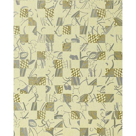 Wallpaper wall abstract collage EDEM 745-28 mystic art style embossed quality ivory silver gold 5.33 sqm (57 sq ft)