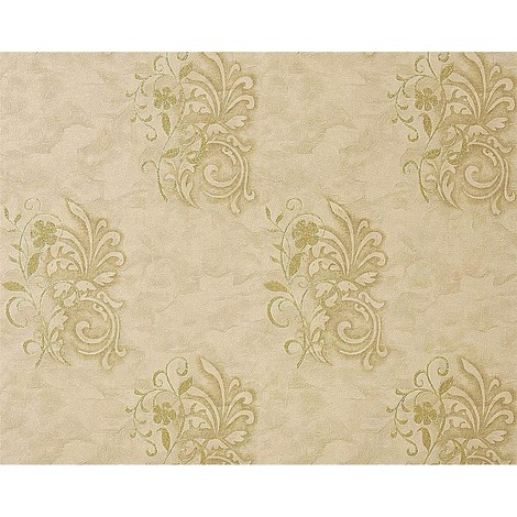 wallpaper wall antique EDEM 926-36 deluxe heavyweight floral non-woven plaster flower decor beige green olive 114 sq ft