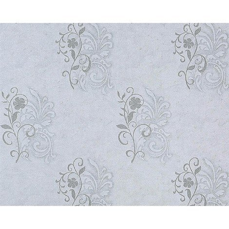wallpaper wall antique EDEM 926-37 deluxe heavyweight floral non-woven plaster look flower decor grey blue white 114 sq ft