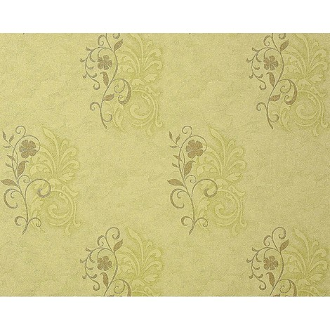 Wallpaper wall antique EDEM 926-38 deluxe floral non-woven plaster flower decor olive green bronze 10.65 sqm (114 sq ft)